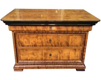 Rare Enrique Garcel Petit Burl Wood Empire Commode   End Table