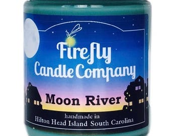 Moon River Soy Candle- Breakfast at Tiffany's inspired Candle- Movie Candle- 8oz