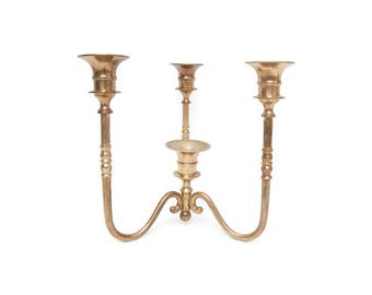 Vintage Brass Candelabra Candle Holder 4 Arm Taper Holder Centerpiece Table Decor Candlestick Holders Unscrews
