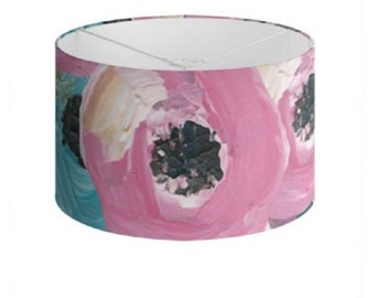 """Floral Lamp Shades """"Jamaica Blooms"""" Limited Edition Print - 40 cm"""