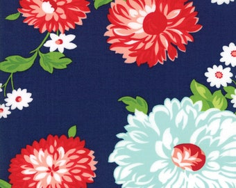 Sale! Scrumptious floral in navy, The Good Life by Bonnie and Camille for Moda 55150 13
