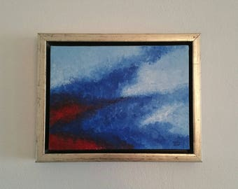 Above, original acrylic painting on canvas with frame