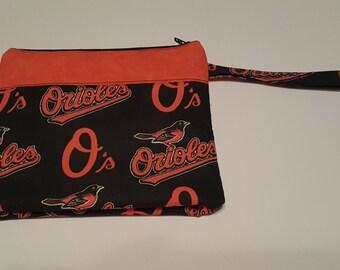 MLB Baltimore Orioles Wristlet Baseball Monogrammed Embroidered