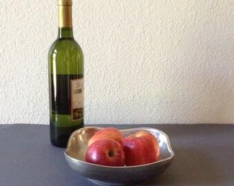 Vintage Wilton Pewter Bowl, Fruit Bow, Serving Bowl, Candy Dish