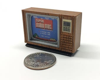 "Mini Zenith 13"" Space Command Color TV - 3D Printed!"
