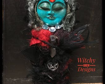 Spirit Doll, OOAK Art Doll, Poppet, Spirit Vessel, Prayer Doll, Mixed Media Doll, Goddess Doll, Witch Altar Doll, Wiccan Doll, Pagan Doll