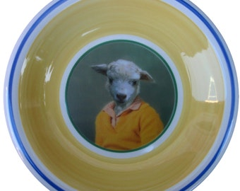 Shay Sheep, School Portrait Plate - Altered Retro Plate 8""
