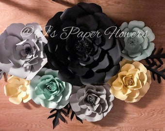 7 pc flower set include 3 roses