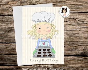 Baker Birthday Card