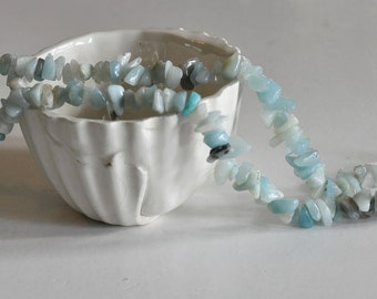 beads/chips not dyed natural Amazonite - 90 cm wire approximately 160 beads
