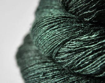 Lost in the coniferous forest - Tussah Silk Lace Yarn