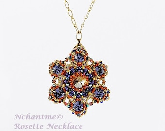 Rosette Necklace Tutorial Instant Download