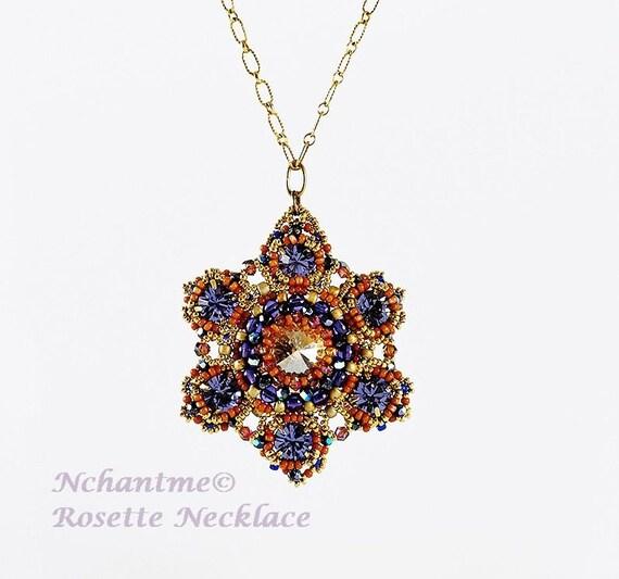 Rosette Necklace Tutorial Instant Download