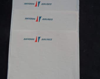 REDUCED Vintage Pre 1975  National Airlines Stationary 5 Sheets   Airlines Collectible, National Airlines Collectible 1114