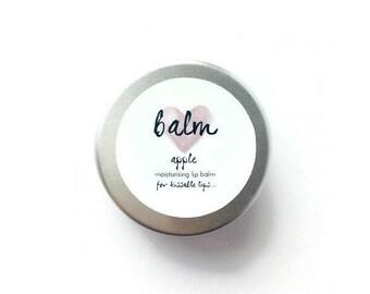 Moisturising, Handmade, Natural Lip Balm, Apple Flavour, Made From Shea Butter, Cocoa Butter, Beeswax