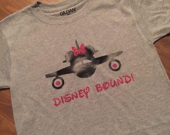 Disney Bound Mickey Minnie airplane