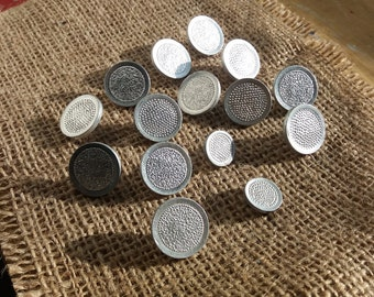 set of 16 vintage metal buttons Made in USSR