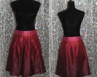 90's Silk Ann Taylor Multi Cranberry Skirt (2)