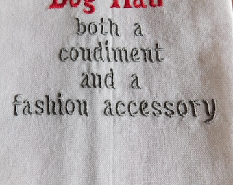 Dog hair, both a condiment and a fashion accessory kitchen towel