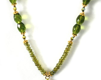 Hues of Green Necklace