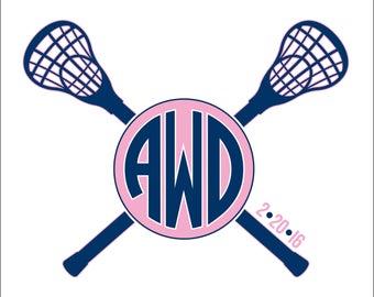 Lacrosse Monogram Bat Mitzvah Logo