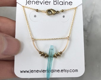 Aquamarine Quartz Necklace