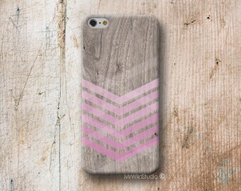 PinkChevron Wood print Phone Case for iPhone 4 4s 5 5s SE 5C 6 6S 7 8 PLUS X iPod Touch 5 6 Oneplus 2 3 5 1+2 1+3 1+5