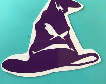 Decal-Sorting Hat Vinyl Decal Harry Potter