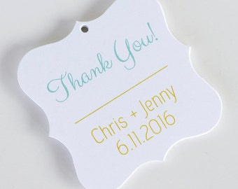 Thank You Favor Tags, Thank You Wedding Favor Tags, Thank You Hang Tags  (FS-003)