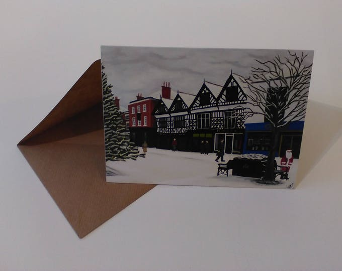 Christmas in Nantwich - Greeting Card with Envelope in Cellophane Wrapping