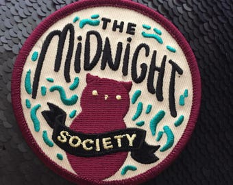 Iron on patch // The Midnight Society // Funny embroidered patch for jacket // Limited Edition iron on badge