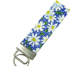 Personalized Key Chain / Key Daisies With Optional Initials
