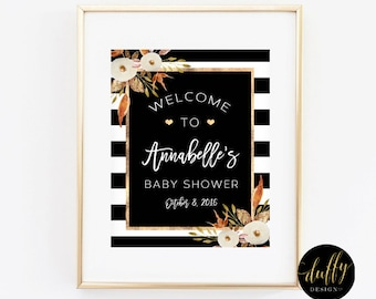 Baby Shower Welcome Sign, Fall Baby Shower Welcome Sign, Gender Neutral Baby Shower Sign, 8x10 Printable Welcome Sign