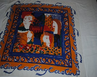 Abstract large scarf designed by Jackie Campbell