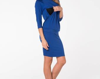 Breastfeeding dress/ Nursing dress/ Maternity clothes/ Maternity dress/ Maternity gown/ Royal Blue nursing dress