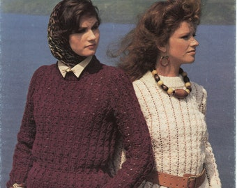 Women's Sweater Beehive Knitting Pattern Book 7303 (Lady's sweater); Very Good; USED