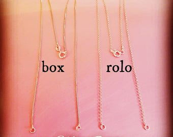 Replacement Chain/Chain Only/Gold Plated Split Chain/Silver Split Chain/Name Necklace Replacement Chain