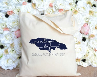 Montego Bay Destination Wedding Welcome Bag - Welcome Tote - Jamaica Welcome Tote