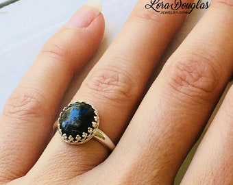 Size 7, Labradorite Ring, Labradorite Jewelry, Labradorite, Stone Ring, Silver Ring, Sterling Silver Ring, READY TO SHIP
