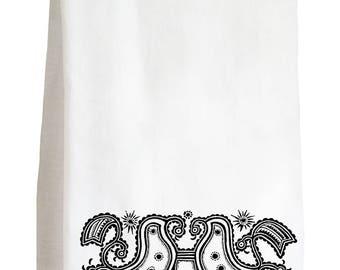 FORETOLD DOVES - 100% Cotton Flour Sack Kitchen Tea Towel