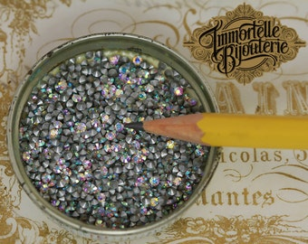 PP13 Crystal Clear Ab Swarovski Rhinestones Chatons - Article 1012 Austrian 5SS First Quality MC Crystal - 30pc