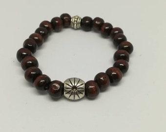 Wooden coffee beans bracelet