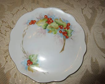VINTAGE HAND PAINTED Plate