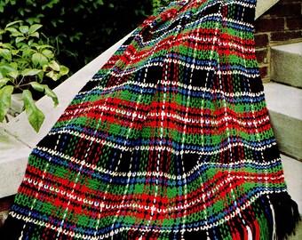 Afghan Crochet Pattern, Woven Plaid Crochet Afghan Pattern, Simple Crochet Pattern, Handmade Gift Idea, INSTANT Download Pattern PDF (1021)