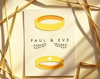 Wedding Invitation with matching RSVP - Paper Cut Elegant Rings
