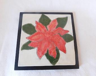 Poinsettia  Tile  Trivet