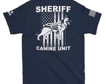 K-9, Sheriff Canine Unit - 6 oz, 100% preshrunk cotton TShirt