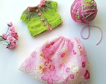 Pre-order: BJD YoSD spring jacket and skirt set Choose your options!