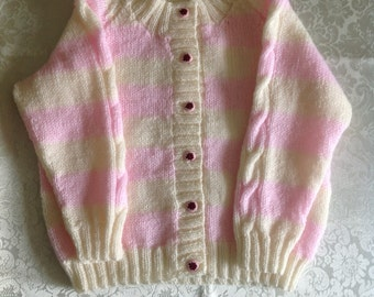 Cream / Pink Delicate Cardigan