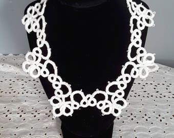 20 inch tatted necklace